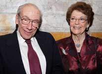 Photo of Arthur H. Aufses, Jr., MD, and Mrs. Harriet W. Aufses